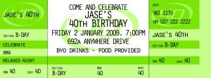 Jase's Birthday Invite